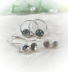 silver with labradorite gemstone earrings