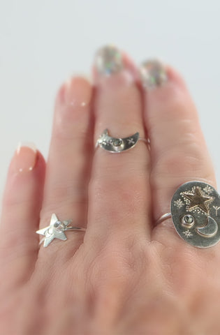 Celestial witch collection rings