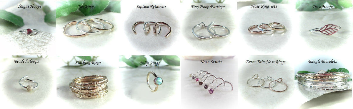 Nose Studs, Toe Rings, Septum Rings and More