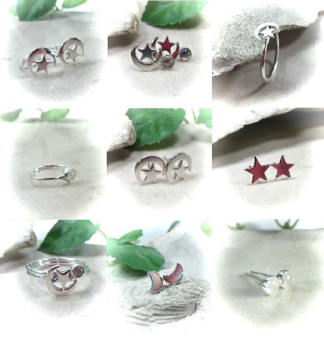 Moon & Stars Piercing Jewelry Mystic Moon