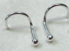 screw hook nose stud style