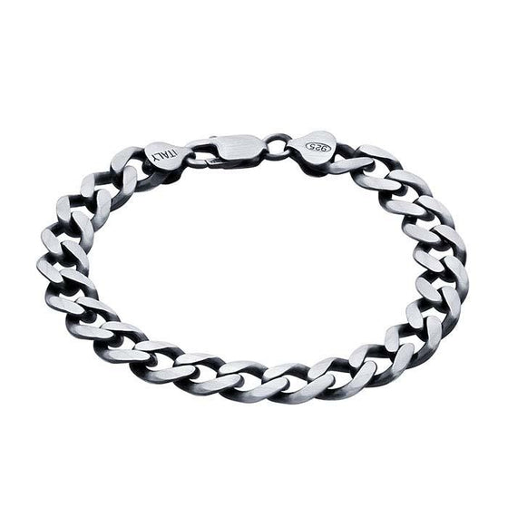 diamond cut curb bracelet 9.3mm