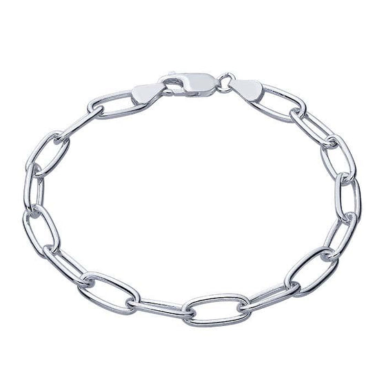 mens oval chain bracelet 6.2mm