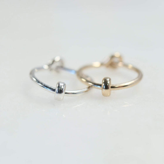 cartilage earrings band bead silver, gold