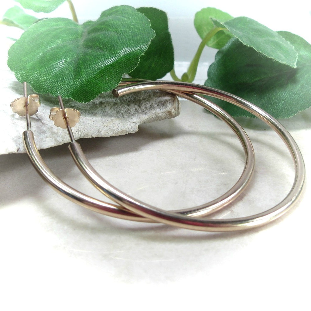 Hoop Earrings Gold Plain