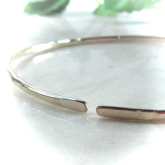 Open Cuff Bracelet Gold Hammered