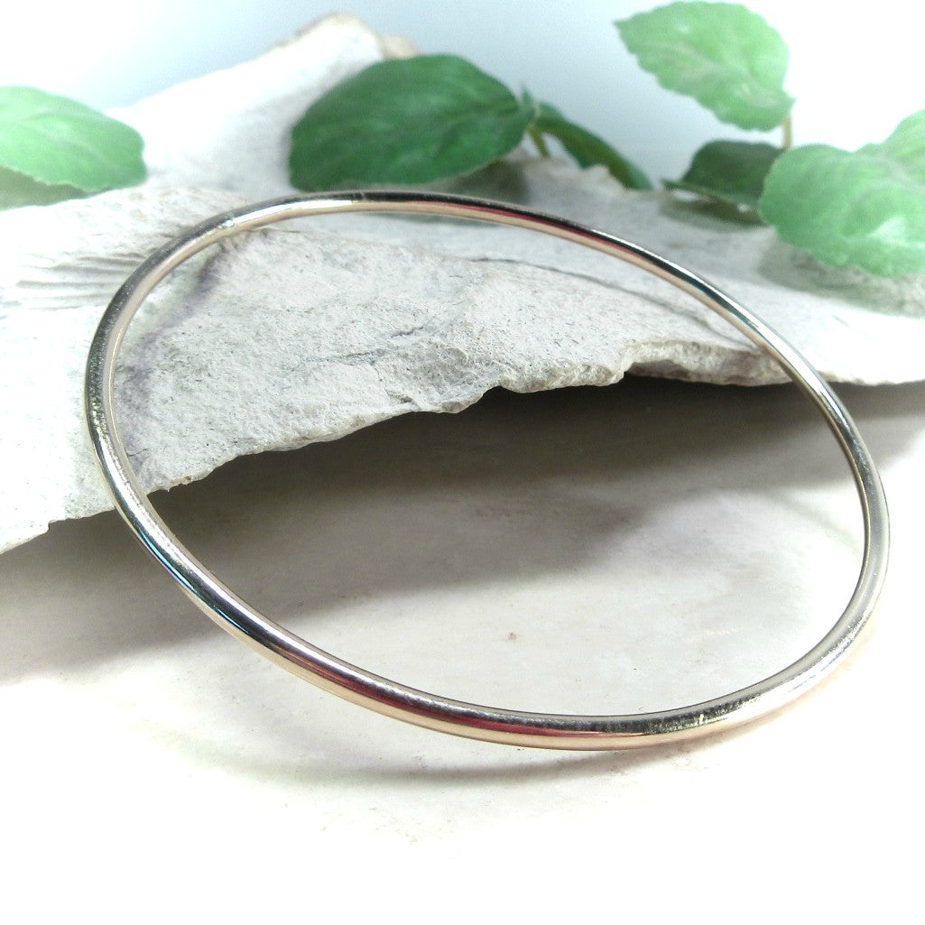 Gold Bangle Bracelet Plain Mystic Moon Shop