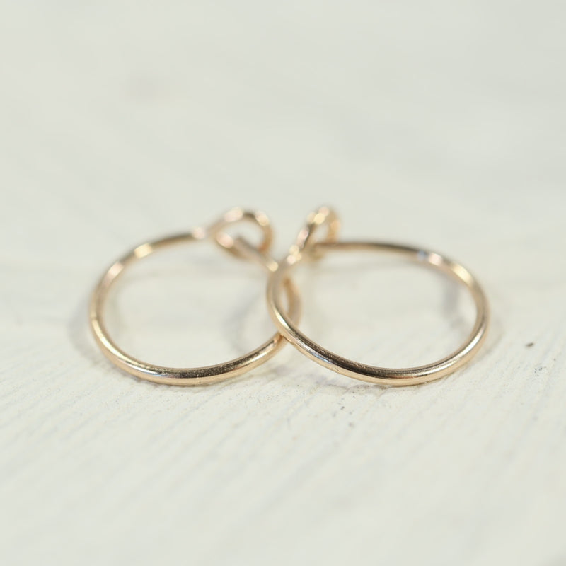 tiny hoop earrings plain gold
