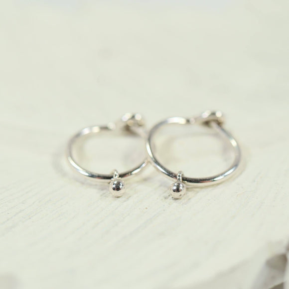 tiny dangle hoop earrings gold, silver