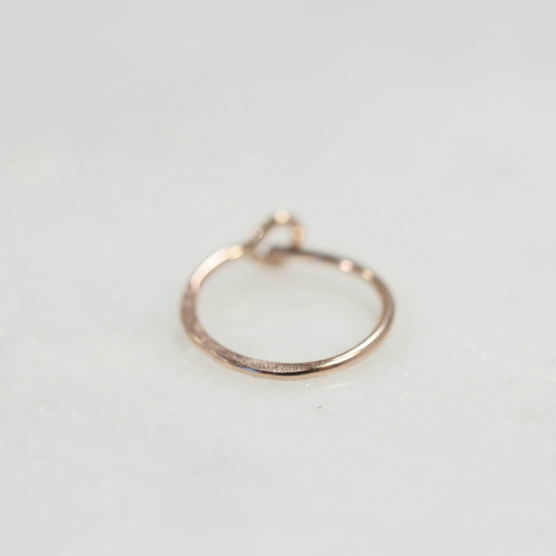 hammered hoop earring pink gold