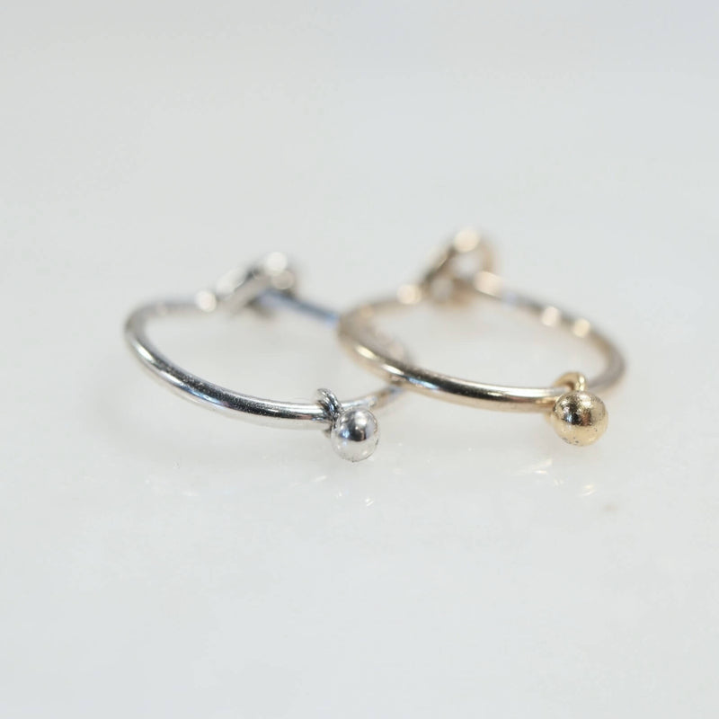 cartilage earring tiny dangle silver, gold