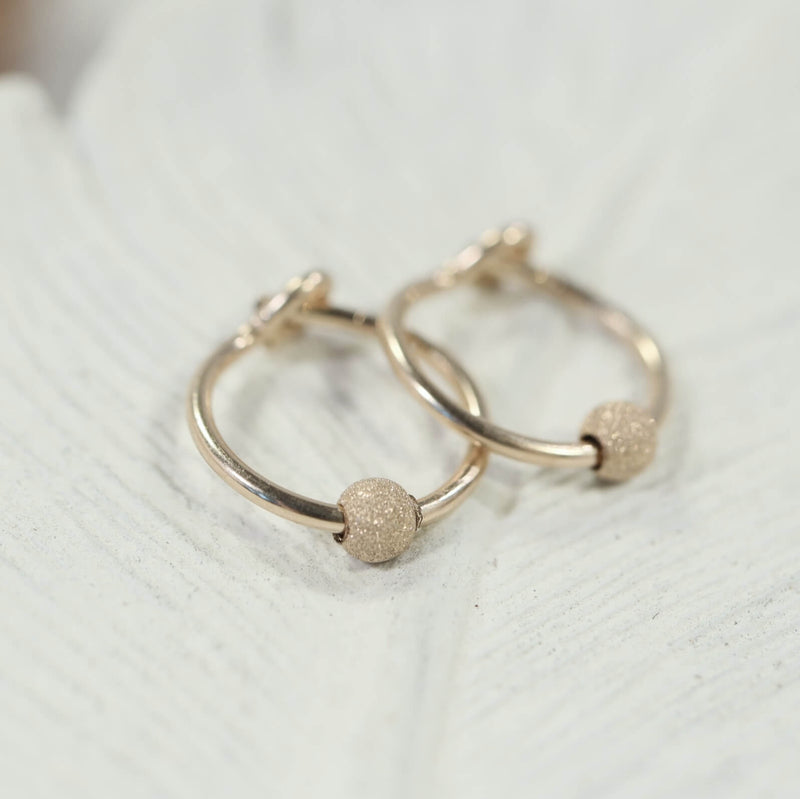 stardust tiny hoop earrings gold