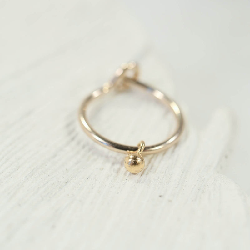 cartilage earring tiny dangle gold