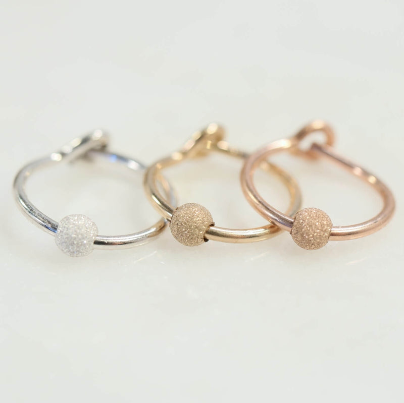 cartilage earring stardust silver, gold, pink gold