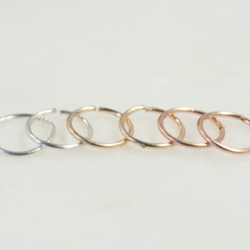 Plain Endless Mens Hoop Earrings Endless Choose Your Size and Metal Precious & Semi Precious