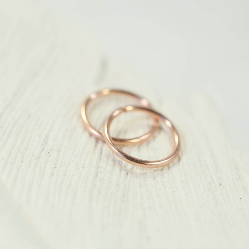 tiny hoop earrings plain endless pink gold