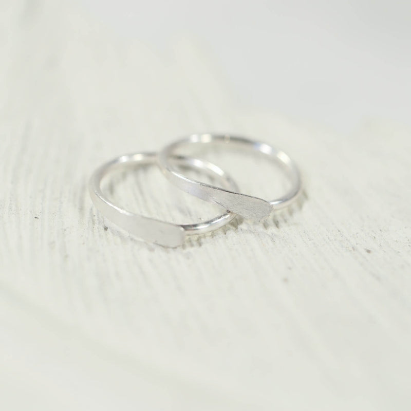 silver flat hoop earrings