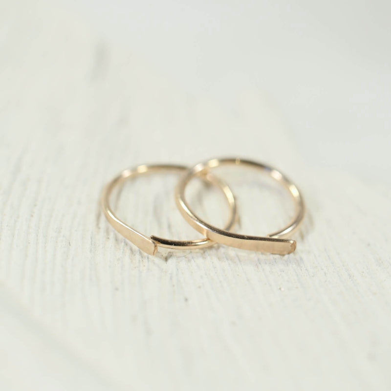 gold flat hoop earrings