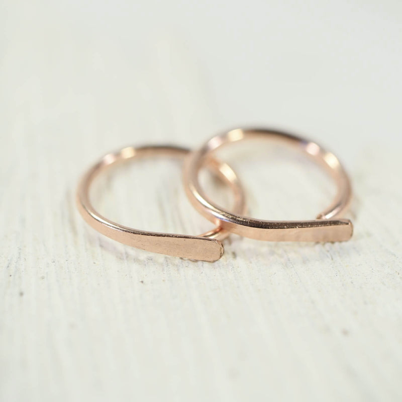 pink gold flat hoop earrings