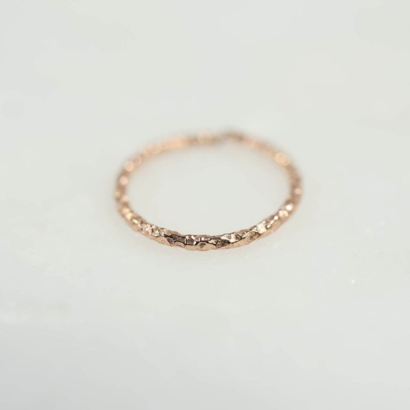 pink gold diamond cut nose ring