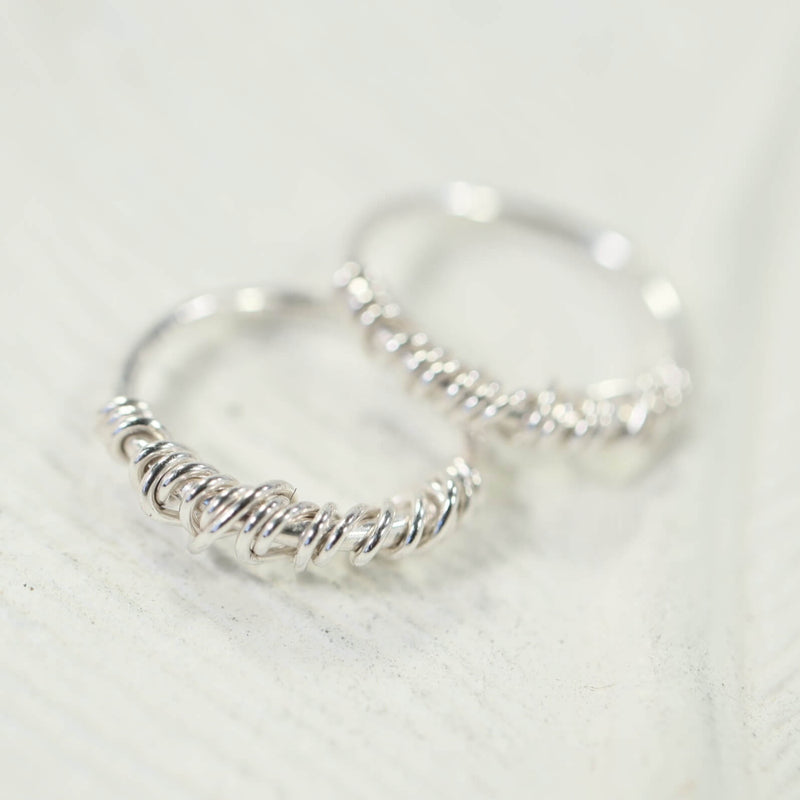 tiny hoop earrings tangled endless silver