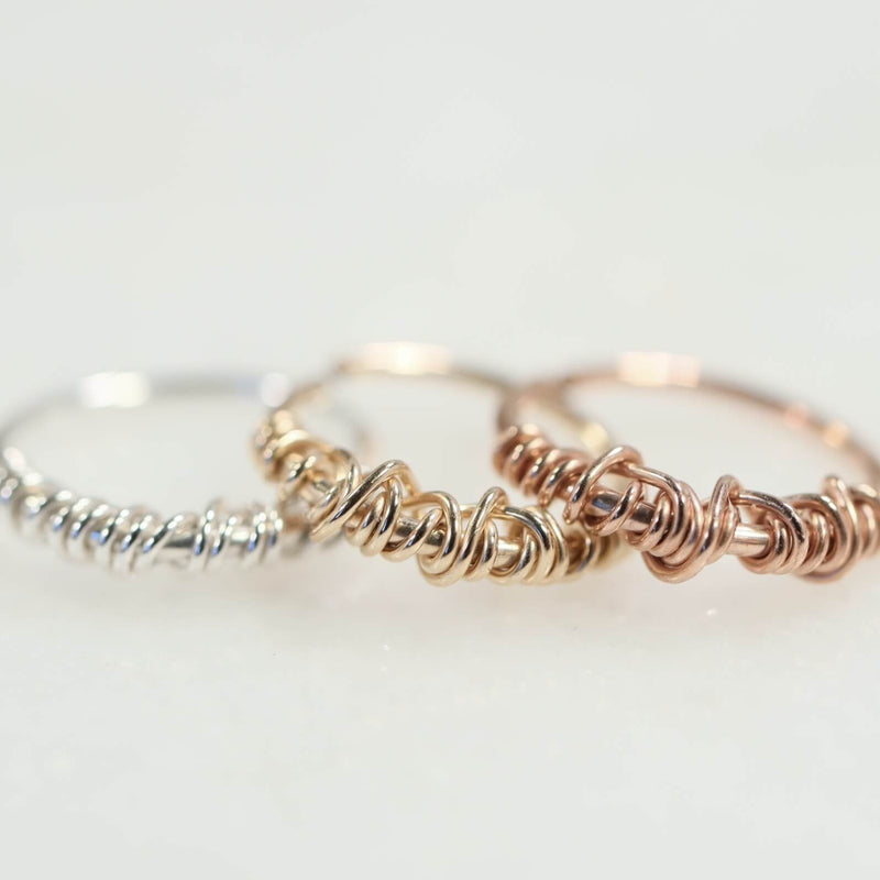 cartilage earring tangled endless silver, gold, pink gold