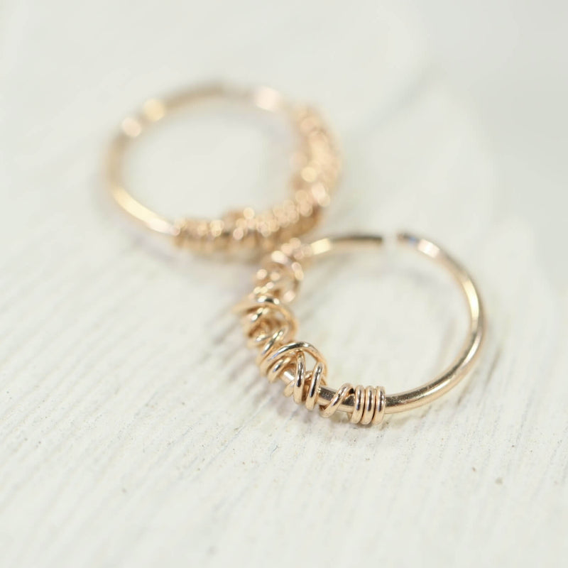 tiny hoop earrings tangled endless gold