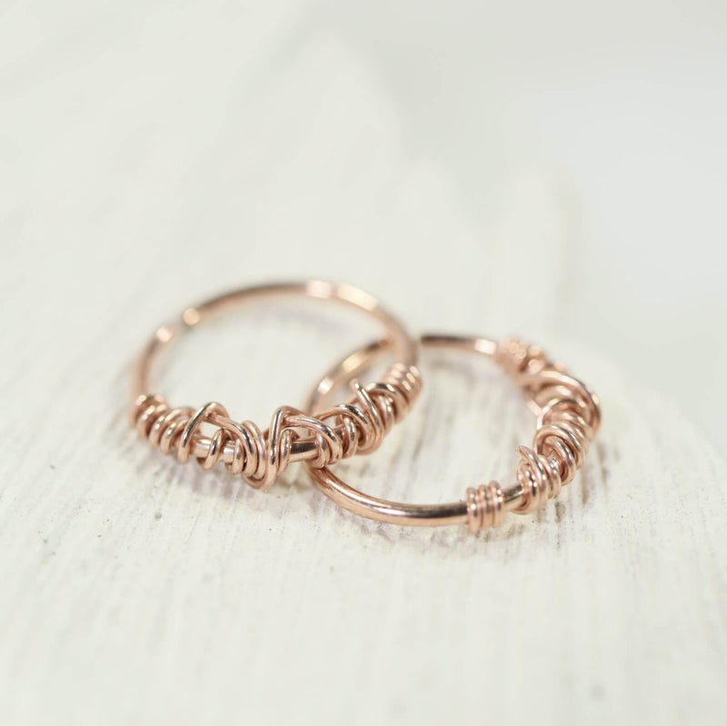 tiny hoop earrings tangled endless pink gold