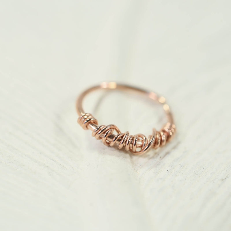 cartilage earring tangled endless pink gold