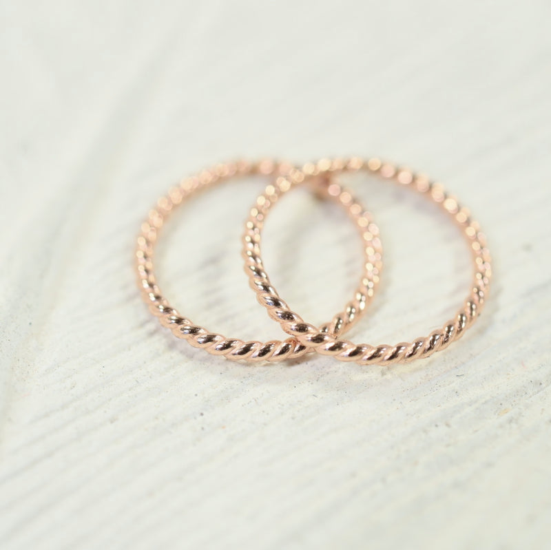 tiny hoop earrings dot twist endless pink gold