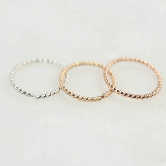 dot twist tragus earring silver, gold, pink gold