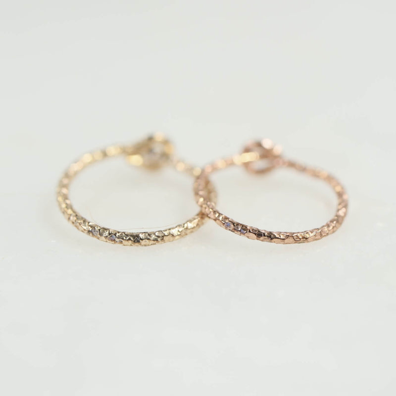 diamond cut cartilage earring gold, pink gold