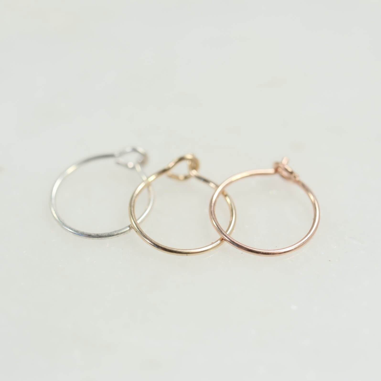 Super Thin Nose Ring Plain With Hook Choose Your Gauge Diameter