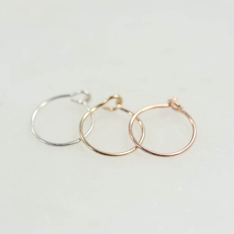 Super thin nose ring in silver, gold and pink gold