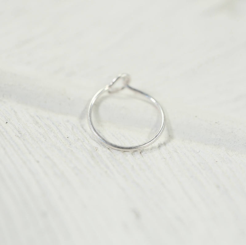 Super thin silver nose ring with hook