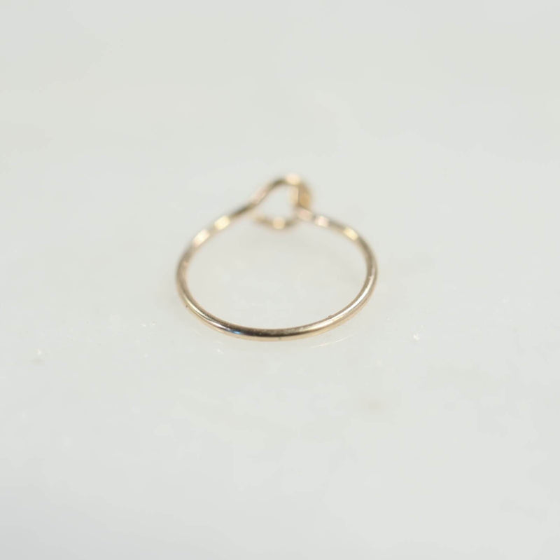 super thin pink gold nose ring