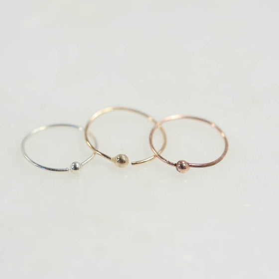 Super Thin Ball Nose Ring Choose Your Diameter and Color Precious & Semi Precious