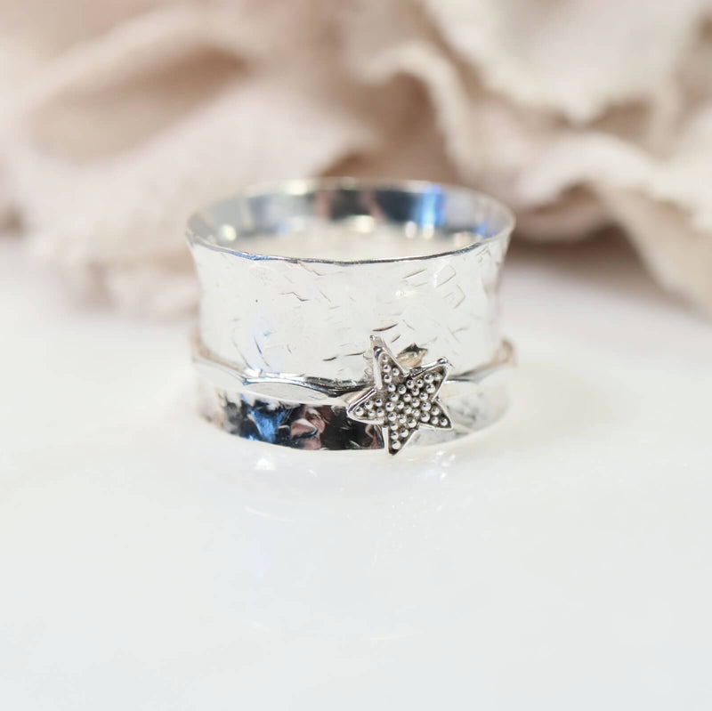 silver star worry ring