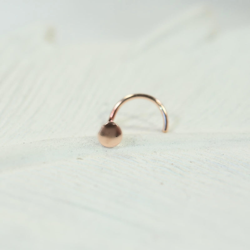 dot nose stud 4mm in pink gold