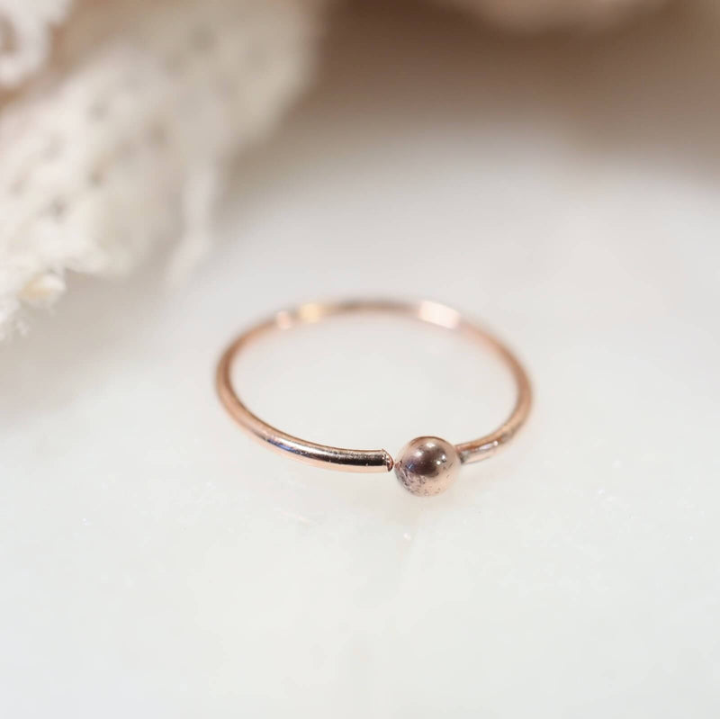 rose gold ball nose ring