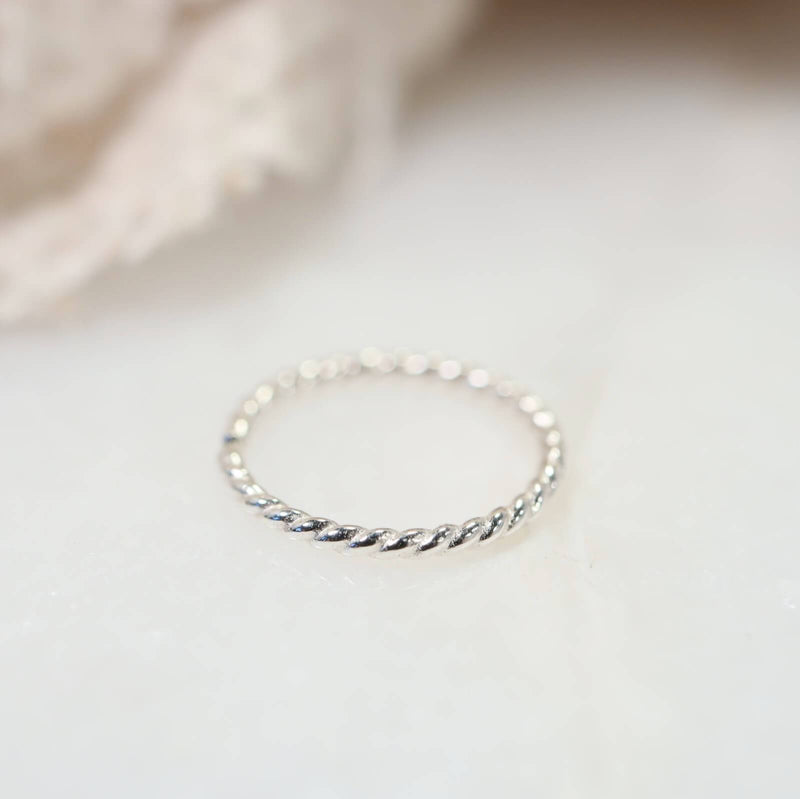 nose ring silver dot twist