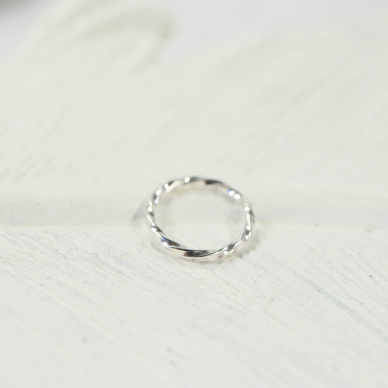 silver nose ring twist