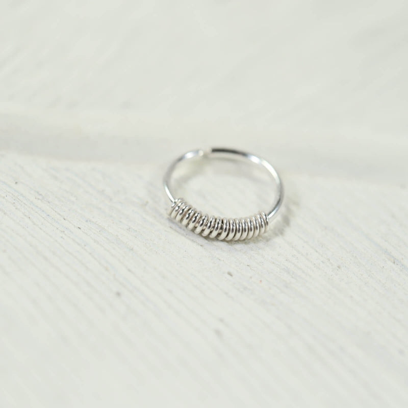 silver wrapped nose ring