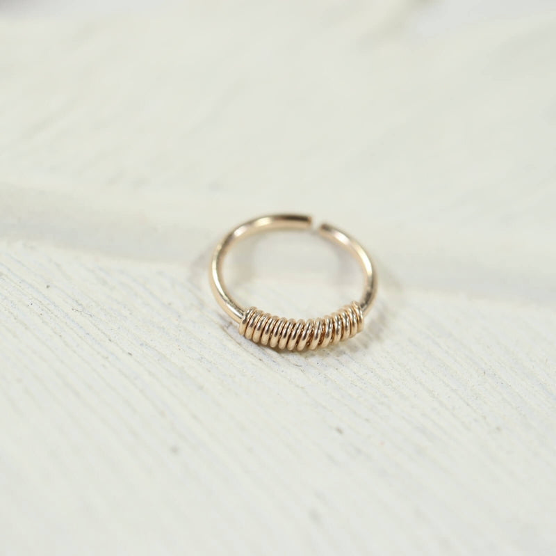 gold wrapped nose ring