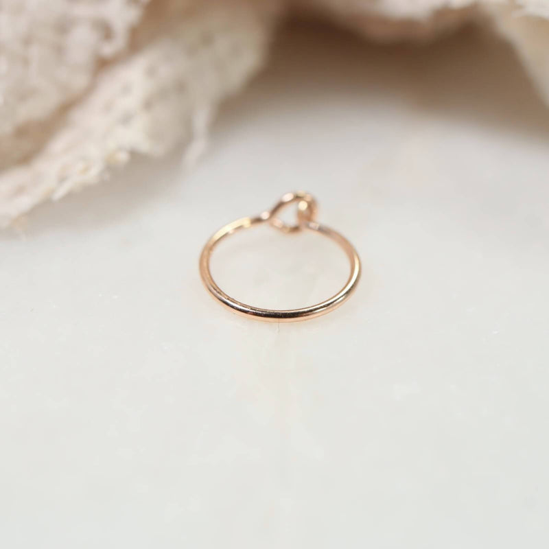 pink gold nose ring with hook
