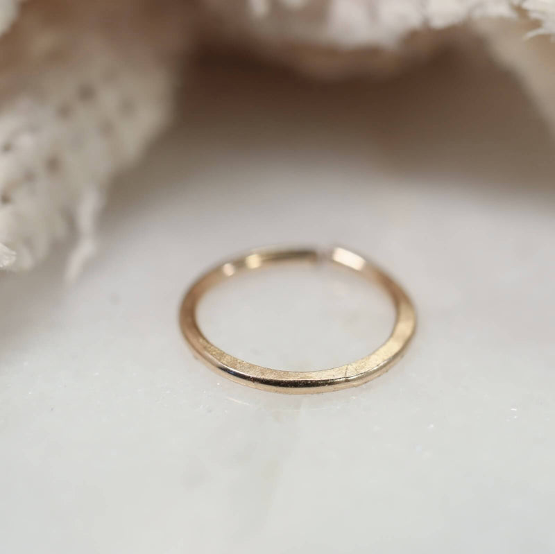 gold hammered nose ring