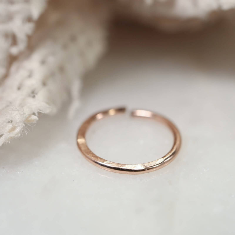 pink gold hammered nose ring