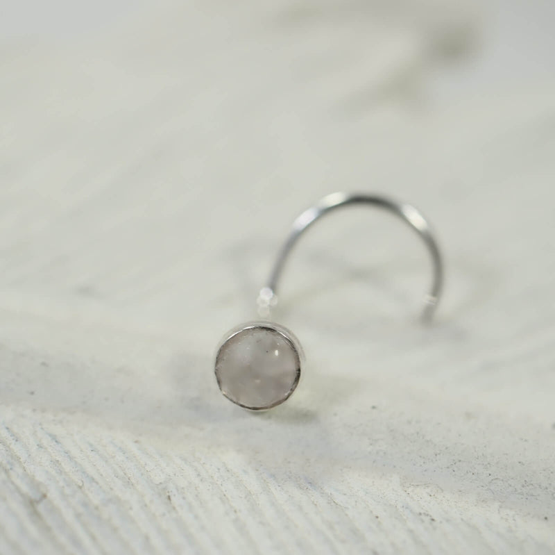 moonstone nose stud 3mm