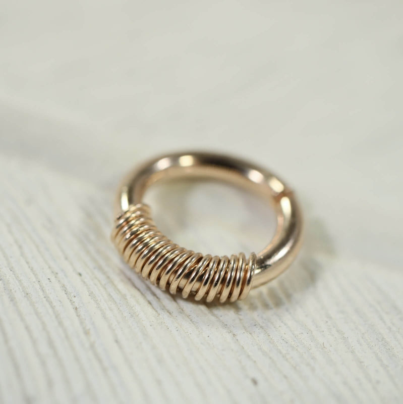 wrapped septum ring gold
