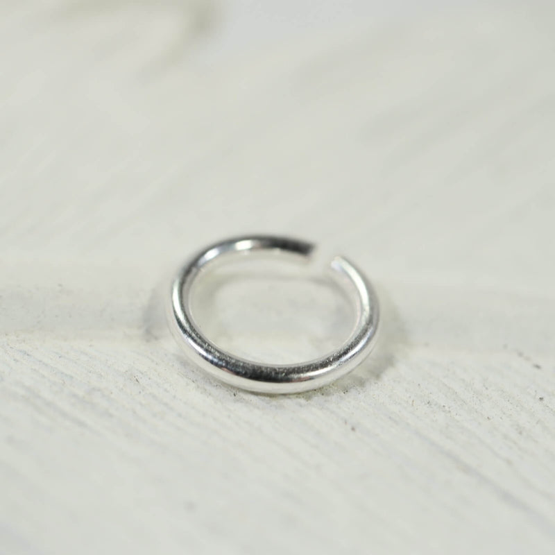 14 gauge single hoop earring endless silver